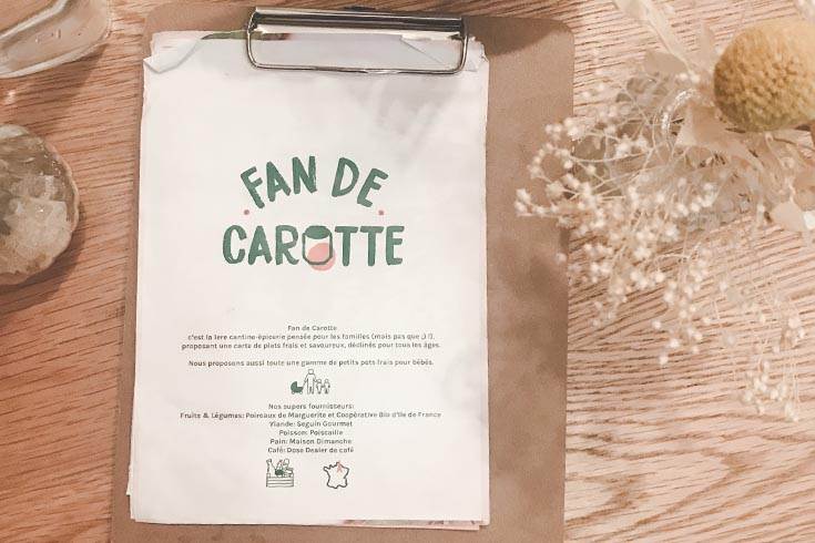 Fan de carotte un brunch kid friendly à Paris